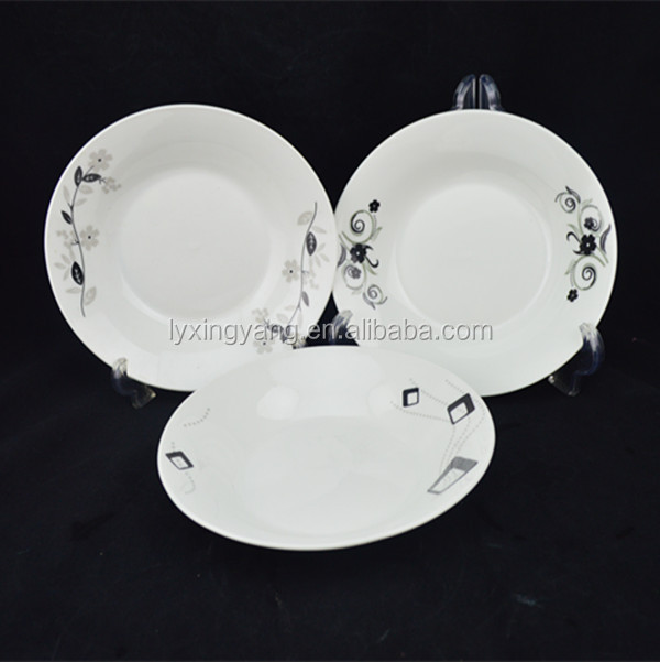 2017 hot sale resturant soup service kitchen plates for wedding