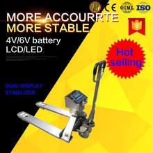 1ton 2ton pallet jack weight scale forklift capacity