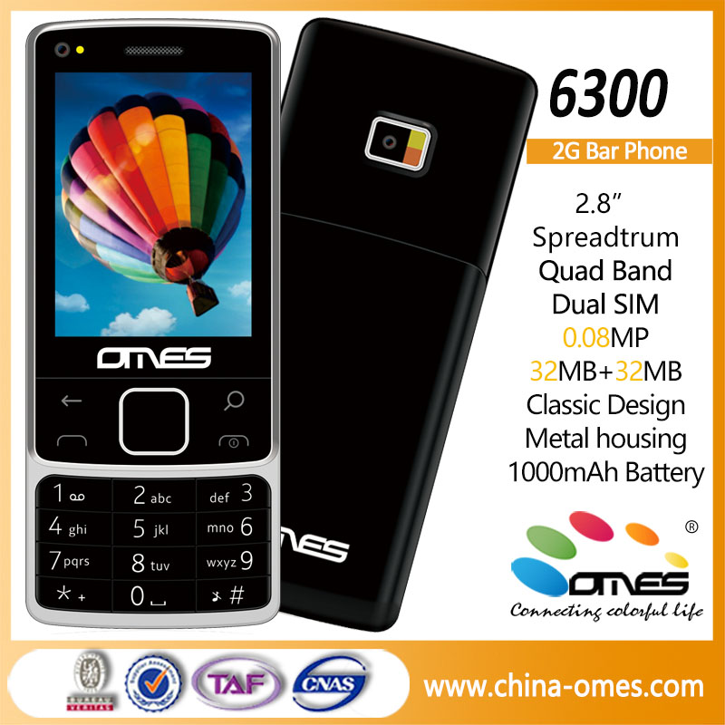 6300 OEM 2G 2.8 inch low price china mobile phone mobile