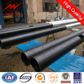 Round Steel Galvanized hot 12 meters steel pole with 6.5KN load