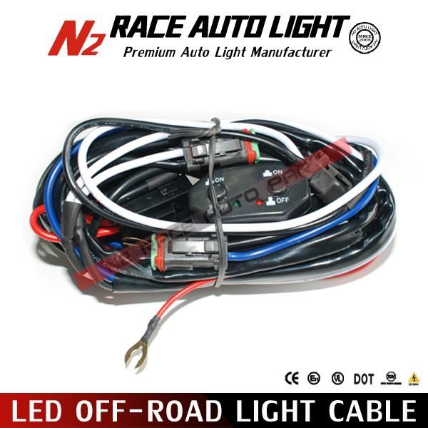 led road wiring harness kit work light wire hardness for utv atv and truck buy work
