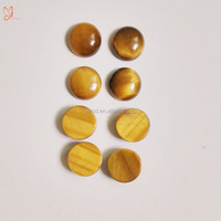 genuine tiger eye round cabochon semi precious