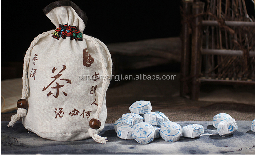 Chinese Herbal Slimming Tea Raw Puerh Tea Sticky Rice Flaovr