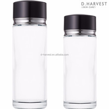 Elegant 100ml and 200ml empty glass lotion bottle with sifter and cap