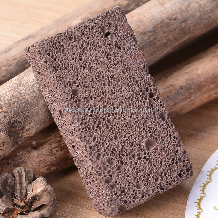 Natural earth lava stone black foot pumice stone for foot callus removal