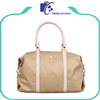 Custom lady large utility duffel travel bag pu leather shoulder tote bag waterproof