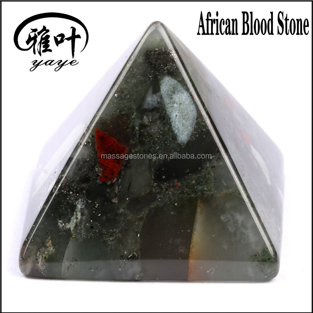Natural Gemstone Reiki Healing Pyramid Paperweight