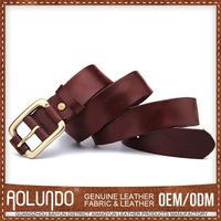 Promotional Wholesale Oem Production Genuine Cowhide Leather Belt For Men