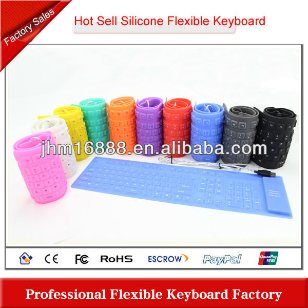 full size silicone rubber flexible kindle keyboard