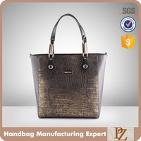 5038 Fashion trends crocodile leather handbag designer custom metal hardware handbags for lady 2016