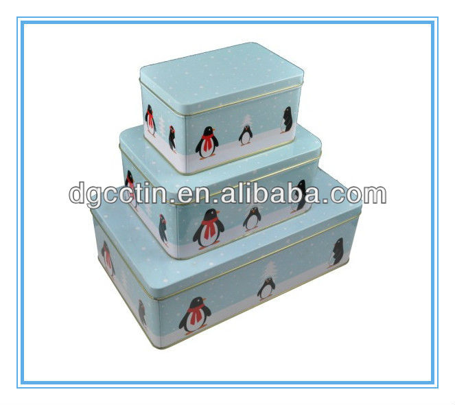 decorative series square tin box packaging