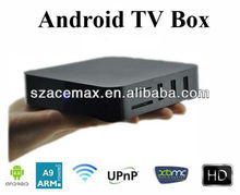 3D Android 4.0 Stream IP TV Box IPTV18 ARM Cortex A9 HD 1080P XBMC IPTV with Remote RAM DDRIII 1GB ROM 4GB Flash