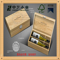 100% natural wood personized handmade 2 bottle wine box