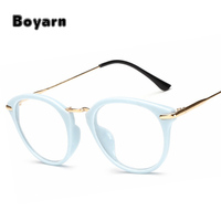 5 Colors Retro Women Round Glasses