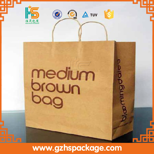 2016 Wholesale printing kraft paper packaging Foldable Shopping Bag
