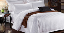 Alibaba China Organic Cotton Fabric 3 cm Stripe Bedspread Hotel Bedding Set