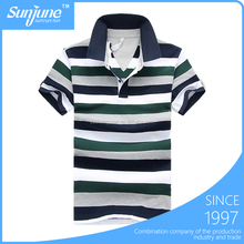 New men's striped sports POLO t shirt