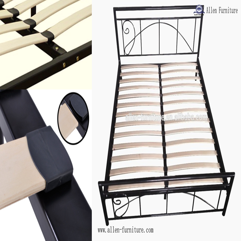 Easy assembly strengthen wooden single bed designs/europe slats frame