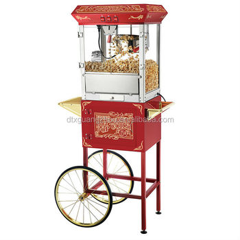 8oz Retro Popcorn Machine Maker with Cart 6135 GNP