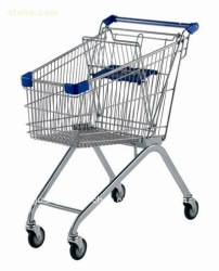 European style trolley/Shopping Cart in supermarket carts and trolleys