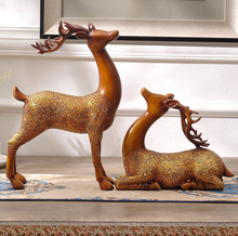 Artificial Style and Figurine Product Type deer sculpture
