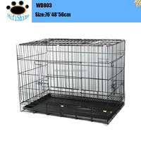 Wire meatl and Plastic Foldable Pet metal dog crates cheap