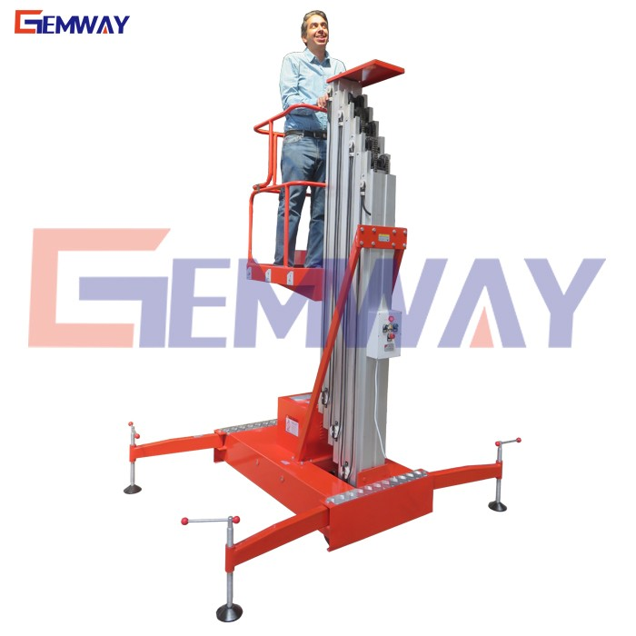 AC mobile portable manual hydrualic man lifter for sale