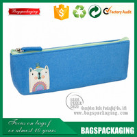high quality student zipper felt bags for pens packaging