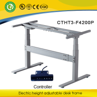 Height adjustable desk that can range in height up to a maximum of 180cm & motorized lifting table frames & counter force height