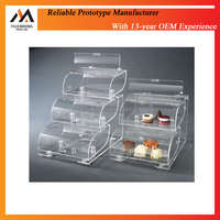 Custom Cheap Transparent PC PMMA Plastic rapid prototype Display Box Display case/CNC Machining 3D printing service