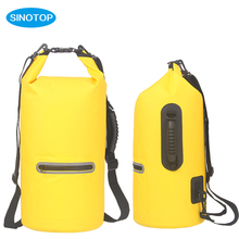 20Lfloating waterproof dry bag outdoor survival kit two shoulder straps for surfing ,kayak
