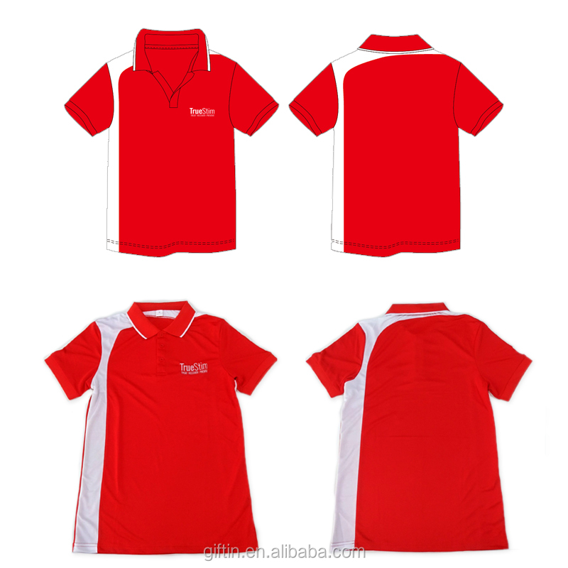 Uniform High Quality Cotton Polyester Blend polo collar t shirt