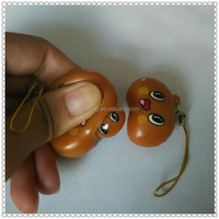 TPR soft rubber broad bean Mobile Phone Strap for promotion for hot sales
