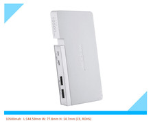 dual usb power bank 10500mah with smartphone stand function