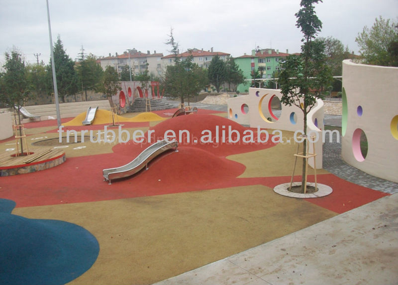 Garden rubber flooring/outdoor flooring(EN1177)