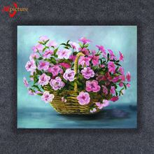 Hot Sale Led Canvas Painting Wall Art Painting On Canvas Beautiful Artist Painting of Flower