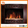 Curved PU Decor flame effect electric fireplace heater