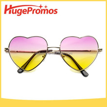 Fashion Metal Retro Heart Diffraction Glasses,Two Colors Heart Glasses