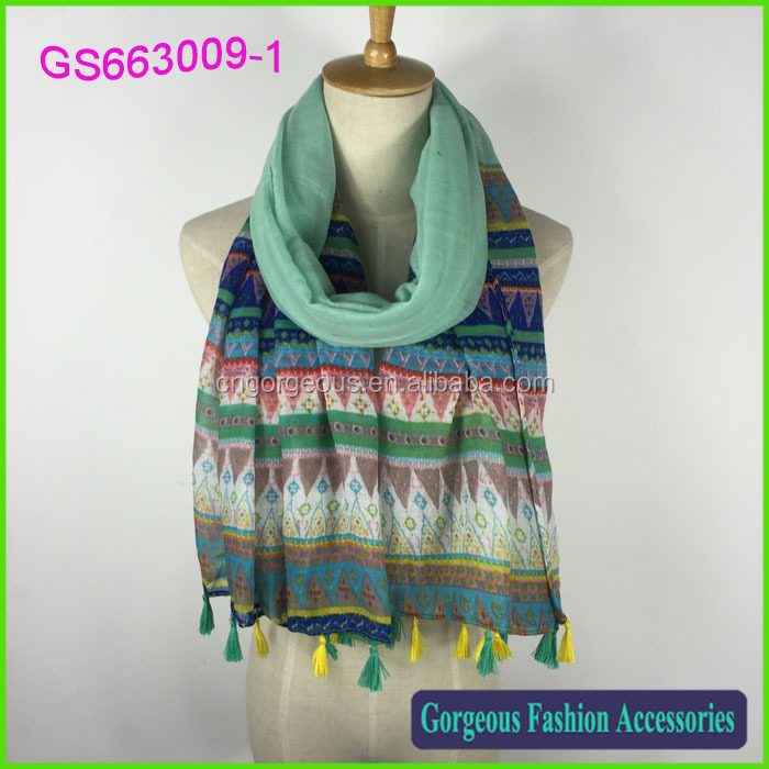 New wholesale viscose color focus nations wind fashionable scarf