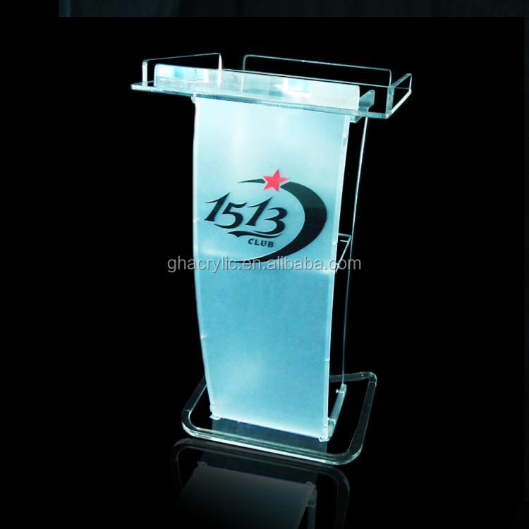 transparent modern desktop lectern high quality portable lectern
