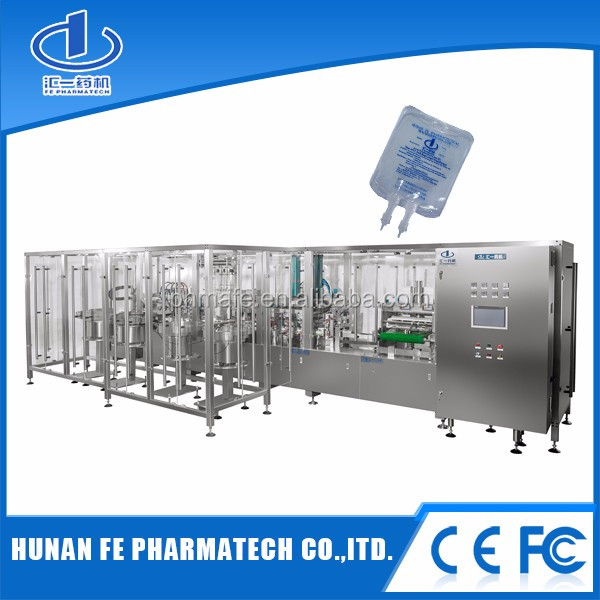 Pharmaceutical Plastic Bag IV Infusion Form Fill Seal Machine