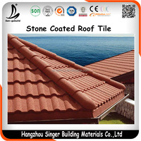 Colorful Building Material Balcony Asphalt Shingle, Stone Coated Metal Roof Covering