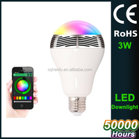 Magic color changing led light bulb with remote control,bluetooth speaker led bulb