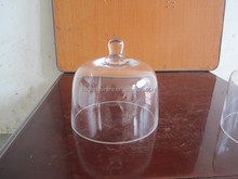 Wholesale glass dome with base as glass dome cover to protect the items