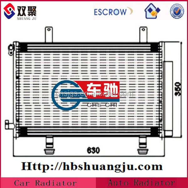 Universal Parallel Flow Auto Condenser/Car condenser/ Auto ac parts
