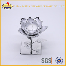 Ceramic Lotus Flower Shaped Custom Votive Candle Holder
