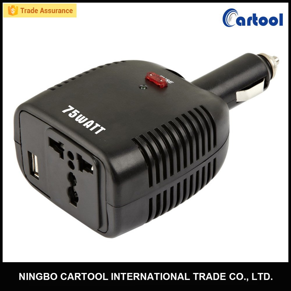 ETL Approved 75w High Frequency Isolated Car Power Inverter 12v ac 110v