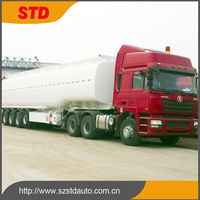 China heavy duty 4 axles gasoline tanker trailer manufacturer