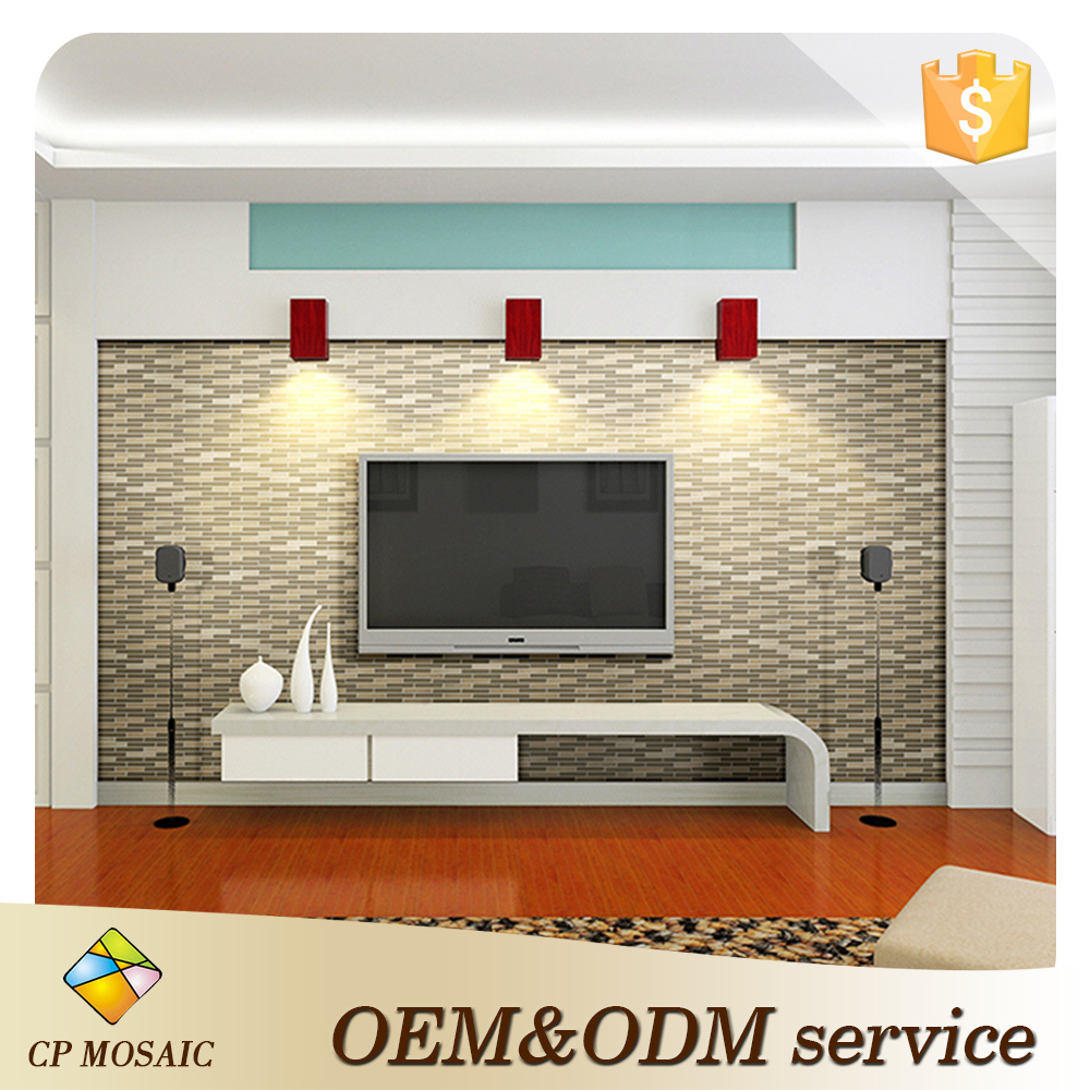Wholesale Price Glass Mosaic Room Wall Mix Italian White Marble Mosaic Tile