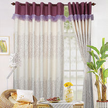 Supplier elegant custom fabric finished blackout curtain